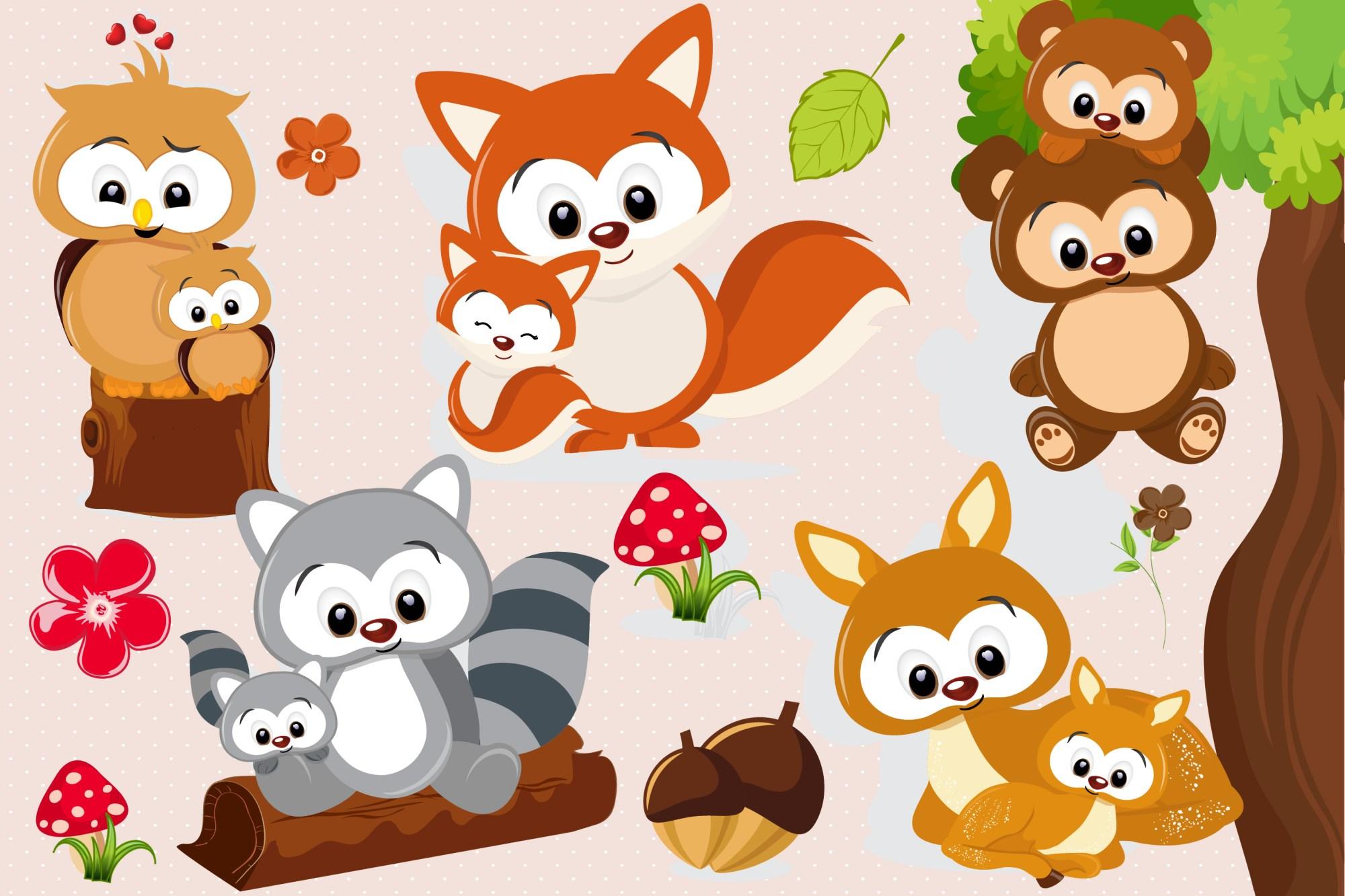 hight resolution of woodland animal clipart woodland animal graphics example image 1