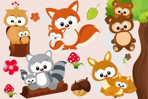 small resolution of woodland animal clipart woodland animal graphics example image 1