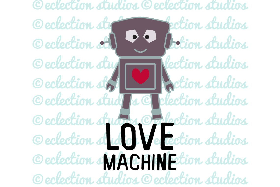 Download Love Machine Robot Valentine's Day SVG