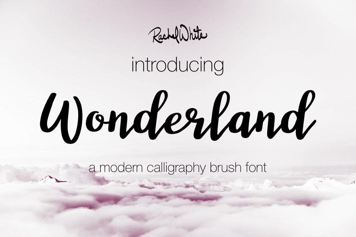Download Wonderland, a modern calligraphy font (17014 ...