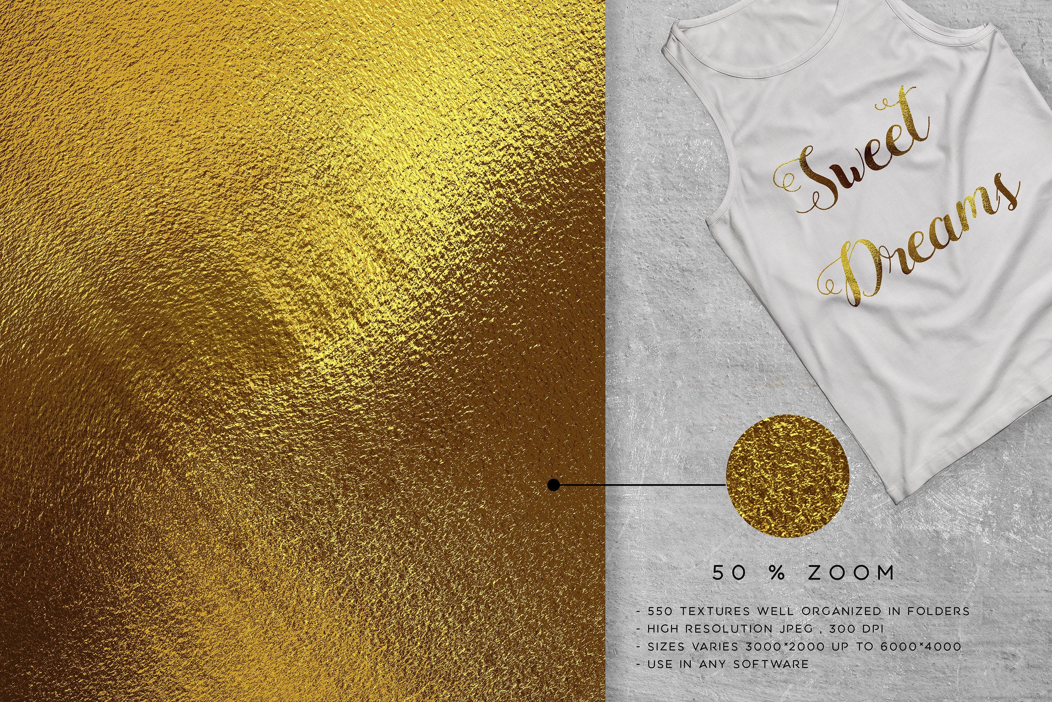 500 gold foil textures