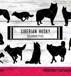 siberian husky dog svg files cricut silhouette clip art ve example image 1 [ 1233 x 822 Pixel ]