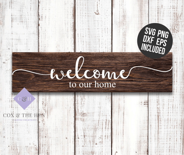 Home Wood Sign Stencil Svg