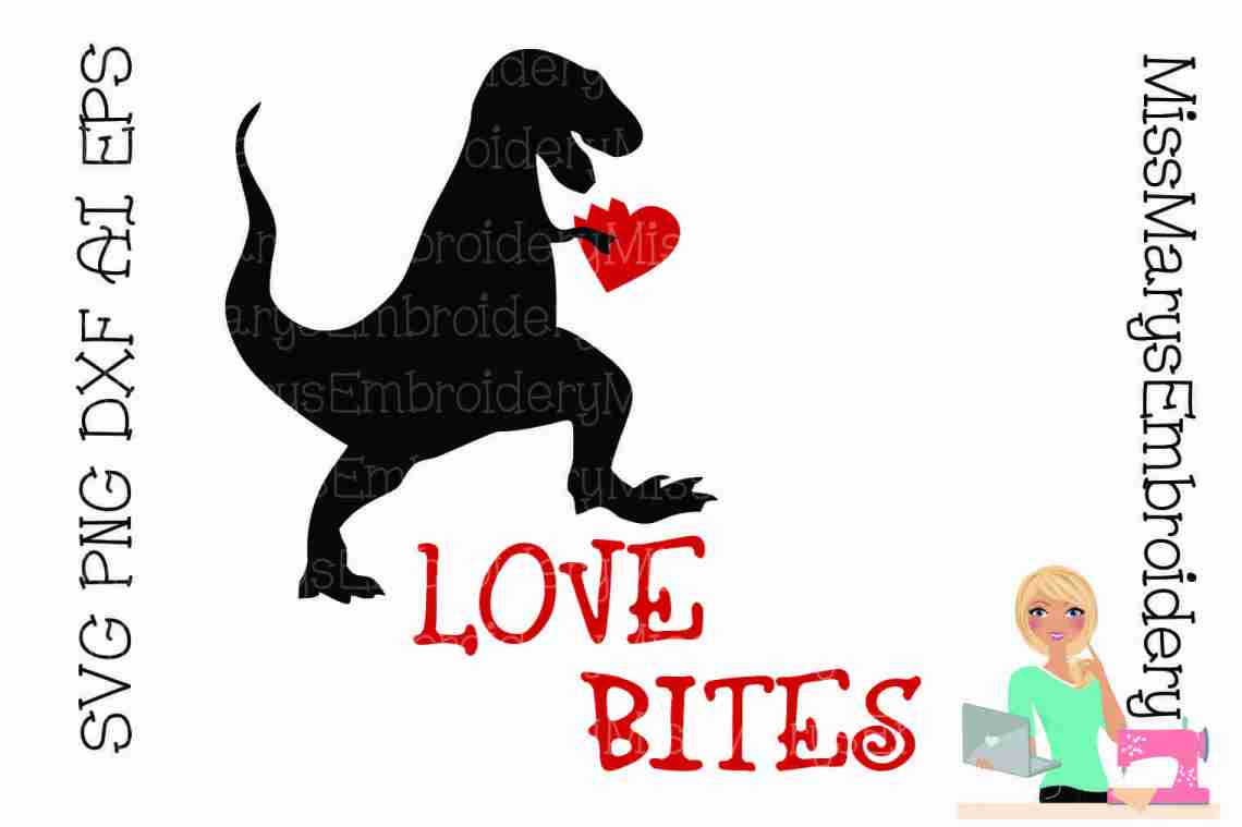 Download Love Bites T-Rex SVG Cutting File PNG DXF AI EPS