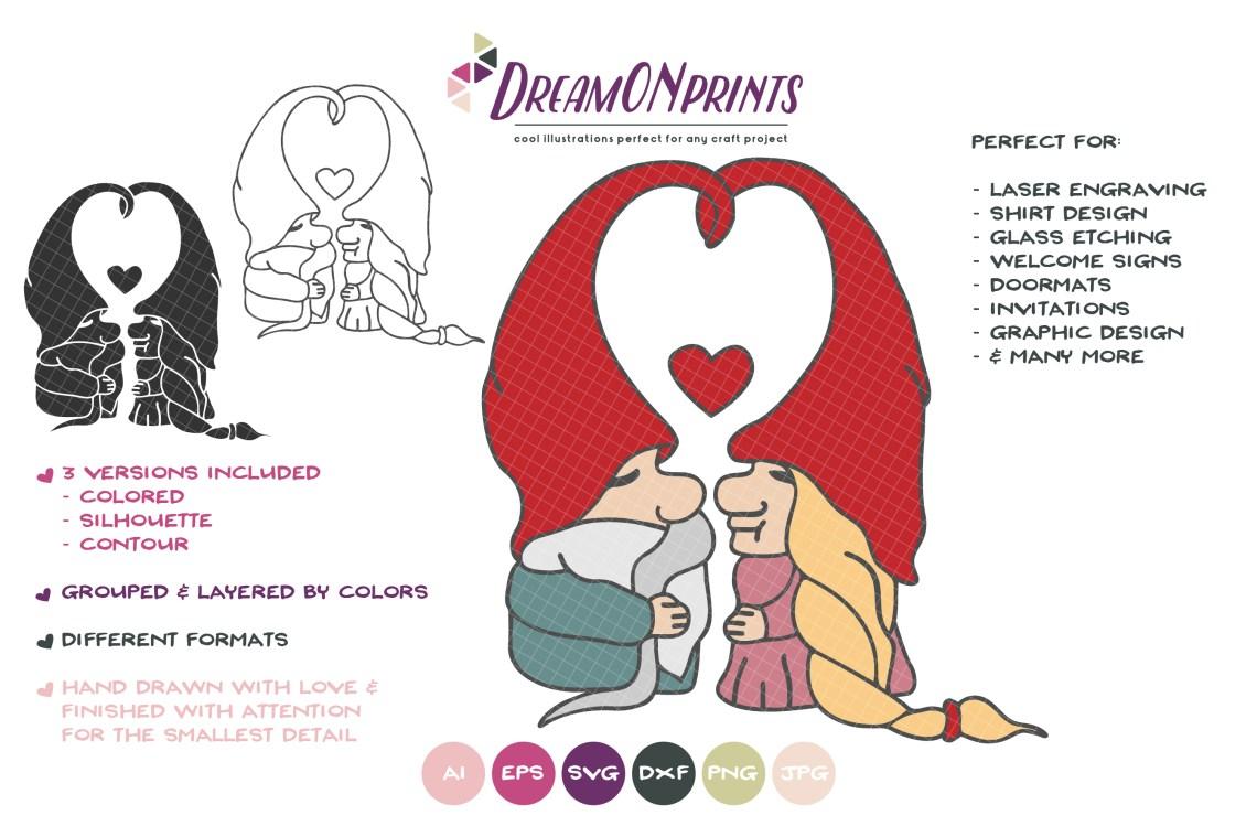 Download Love Gnomes SVG - Valentine Gnome SVG
