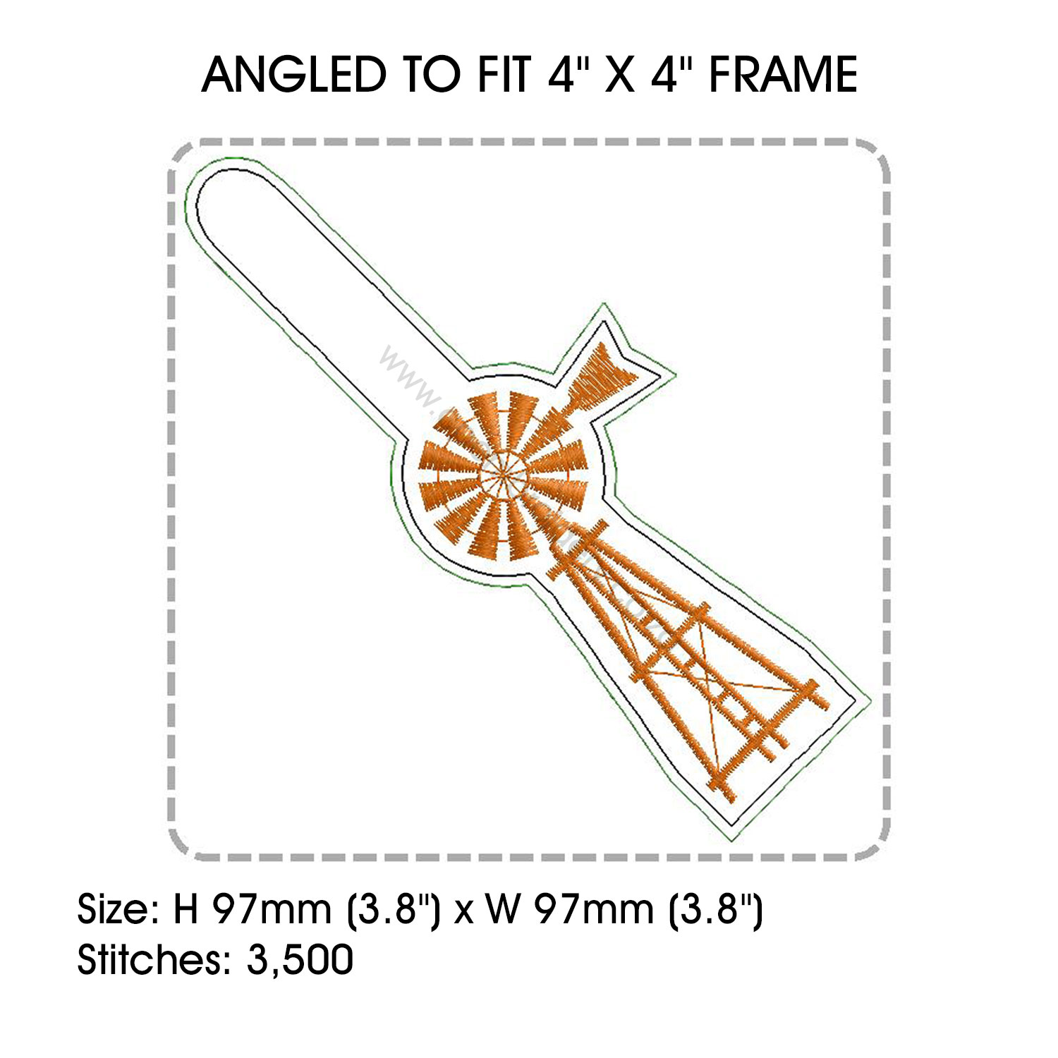 hight resolution of african farmhouse windmill key fob embroidery design example image 4