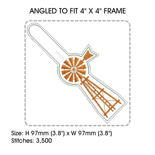 small resolution of african farmhouse windmill key fob embroidery design example image 4
