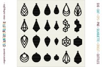 Set of 24 Faux Leather Earrings - SVG DXF EPS PNG - Cricut ...