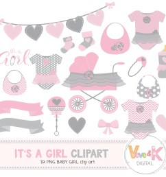 baby shower clip art baby girl clipart baby girl baby shower diy it s [ 1500 x 1352 Pixel ]