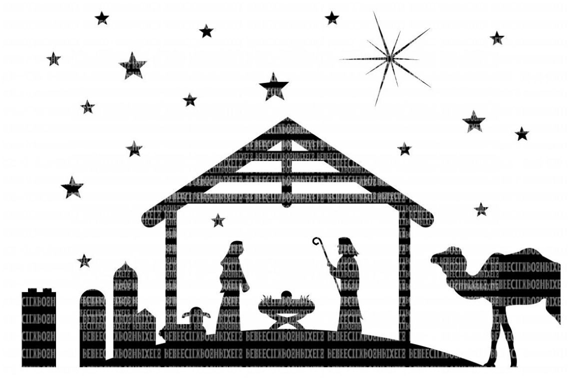 Download Christmas Nativity SVG Files Cut Files Heat Transfer Vinyl ...