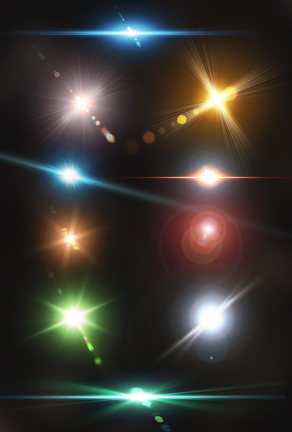 10 Optical Lens Flares Pack 2