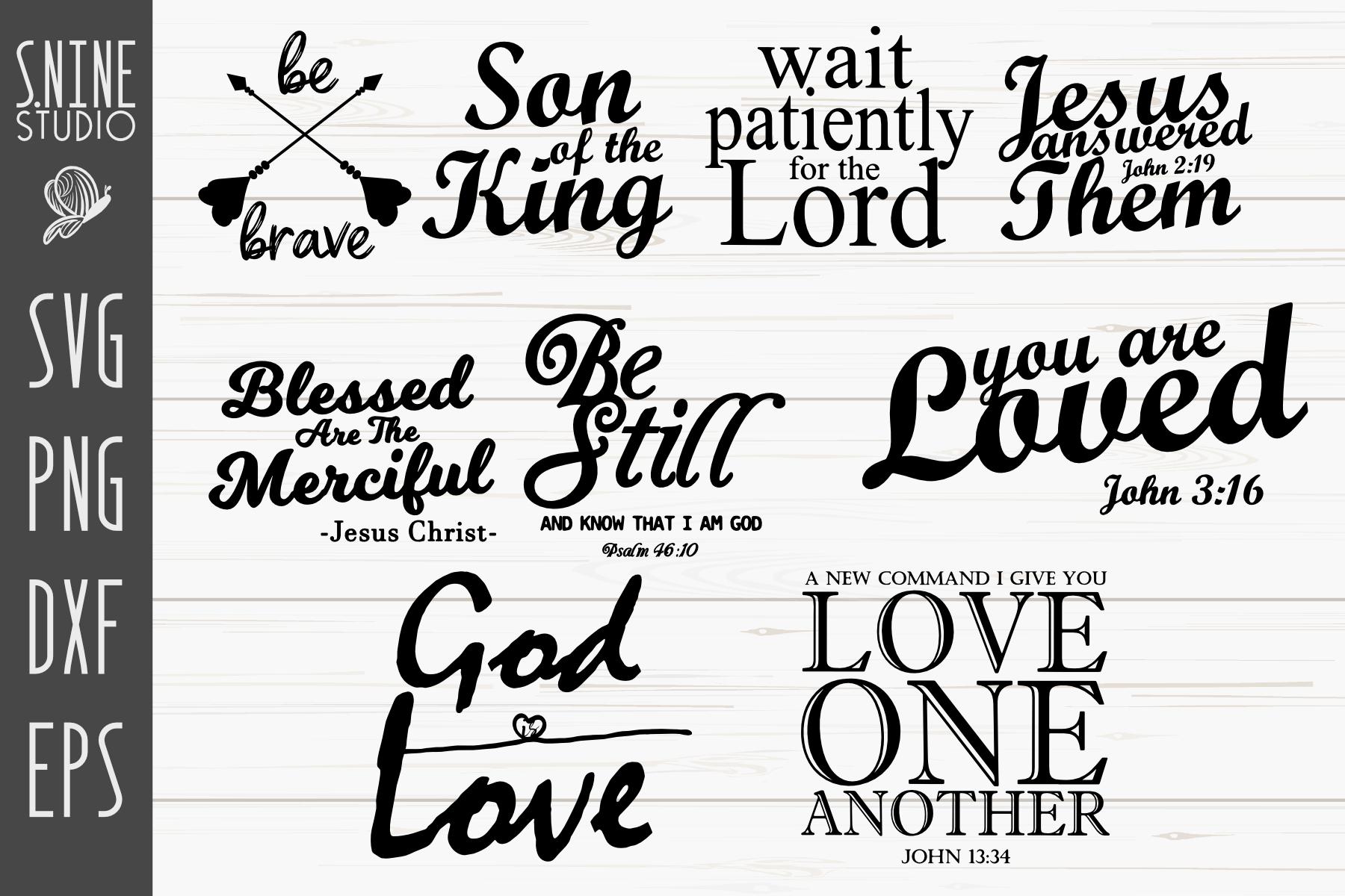 Christians Bible Quotes Bundle SVG Cut File