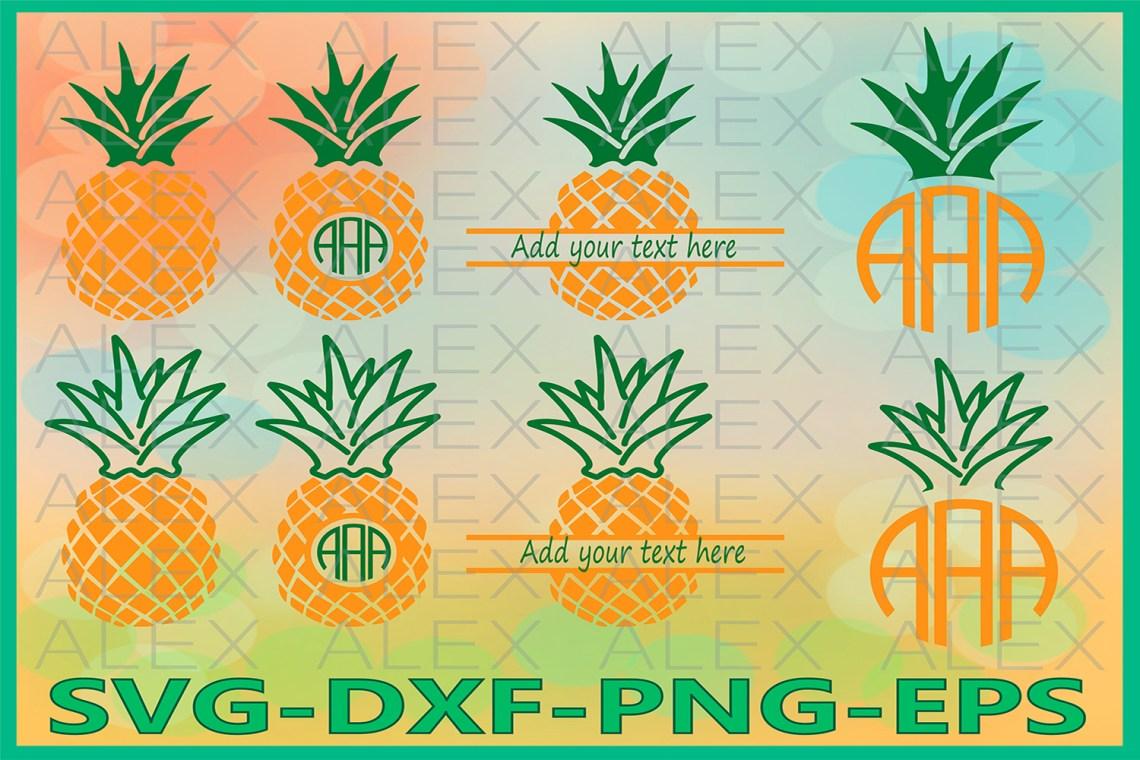 Download Pineapple SVG, Pineapple Monogram SVG, Pineapple Cricut
