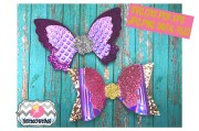butterfly hair bow template. svg