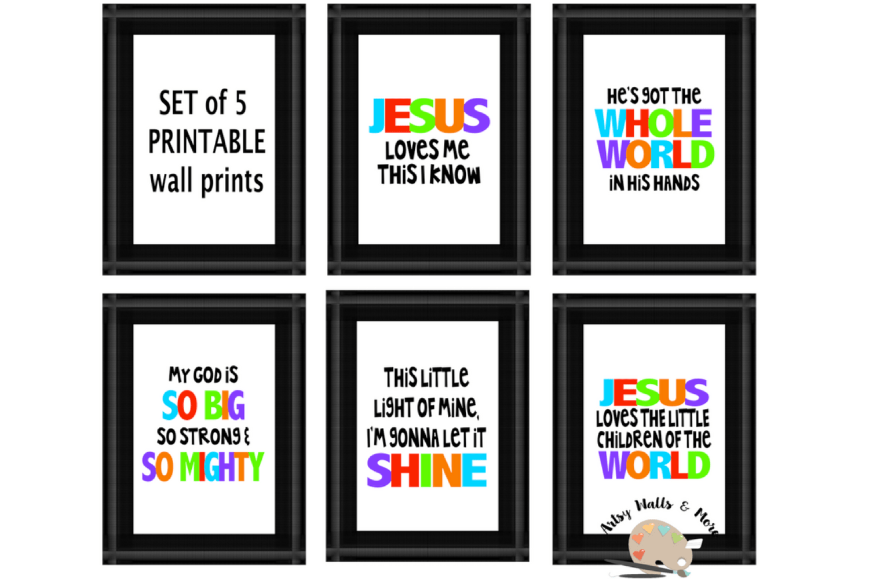 Church Nursery Printable Wall Prints Kids Church Songs Print