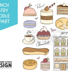 doodle french pastry clip art set dessert clipart food example image 1 [ 3125 x 2083 Pixel ]