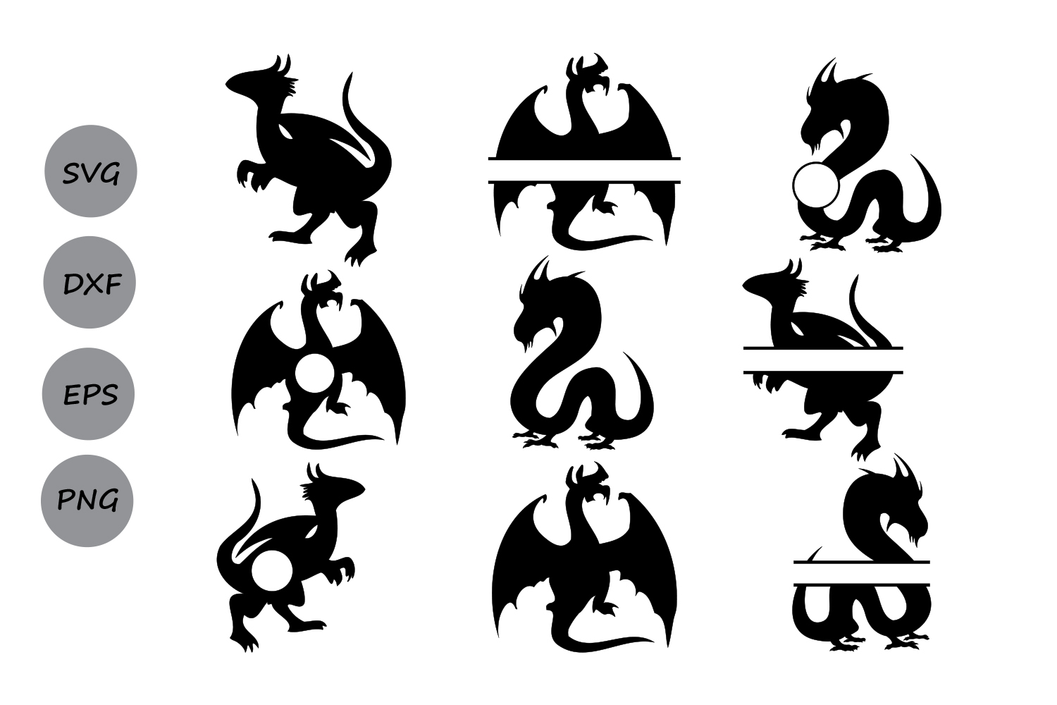 hight resolution of dragon svg dragon monogram svg dragon clipart dragon silhouette silhouette files