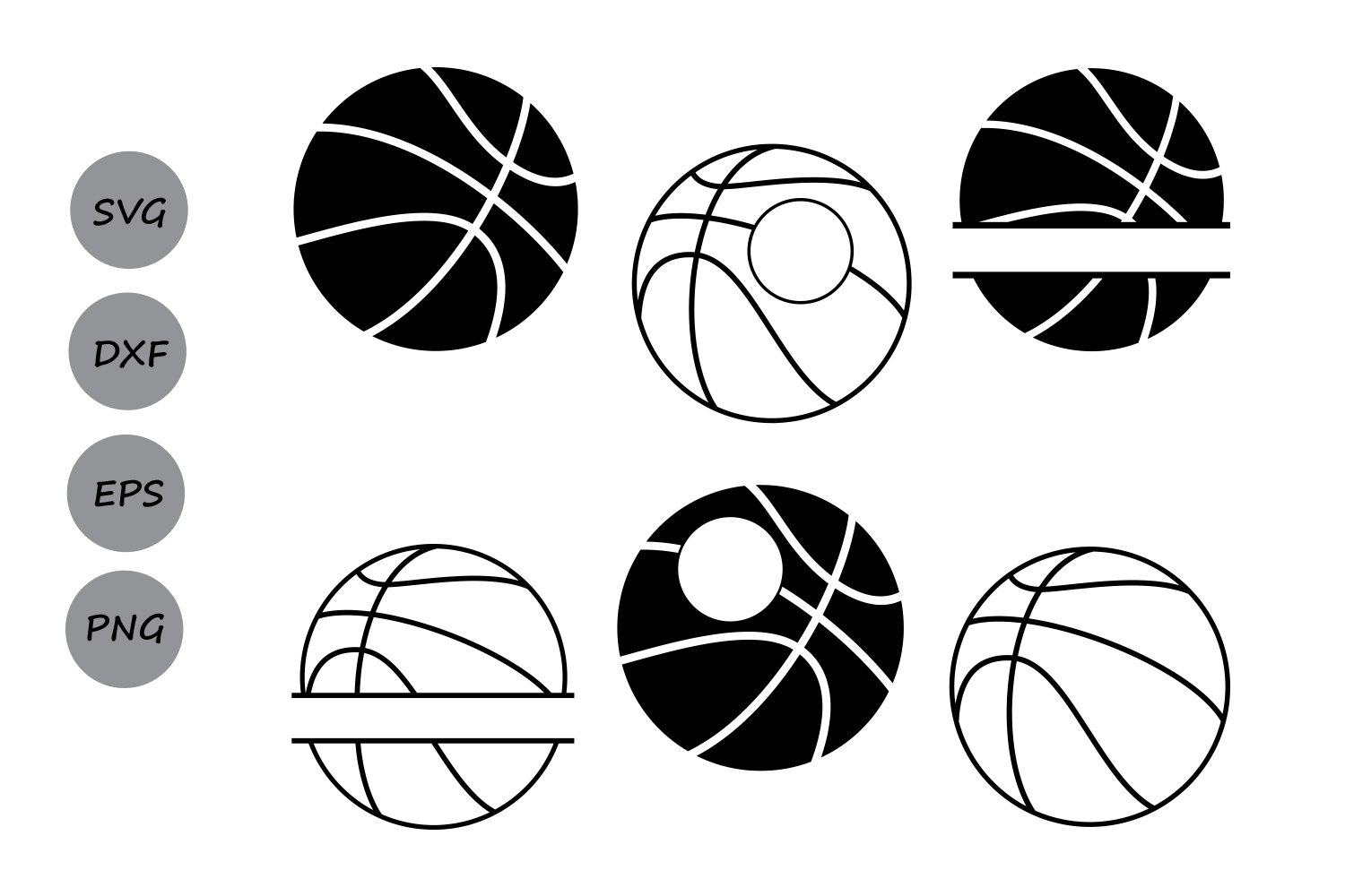 Basketball Svg Files Basketball Monogram Svg Basketball
