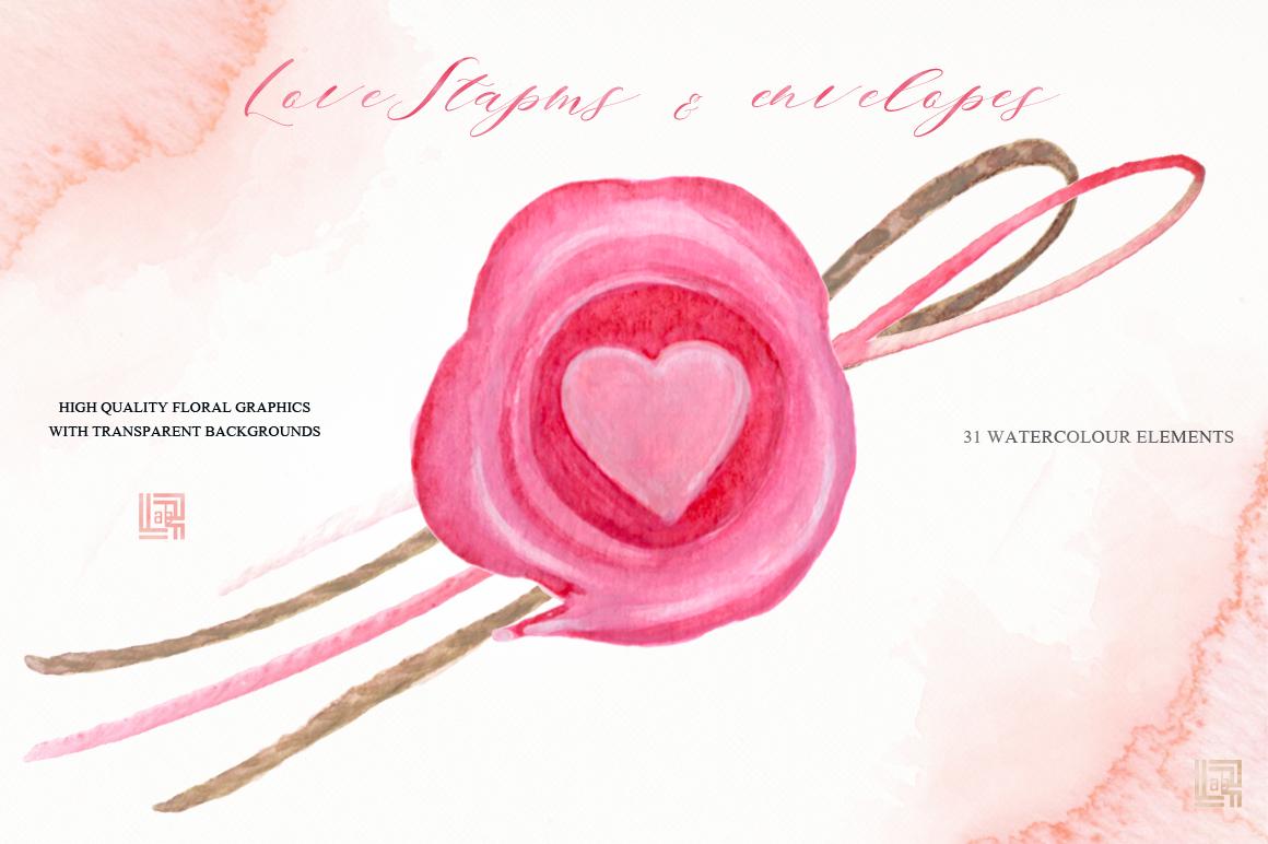 love stamps envelopes hearts