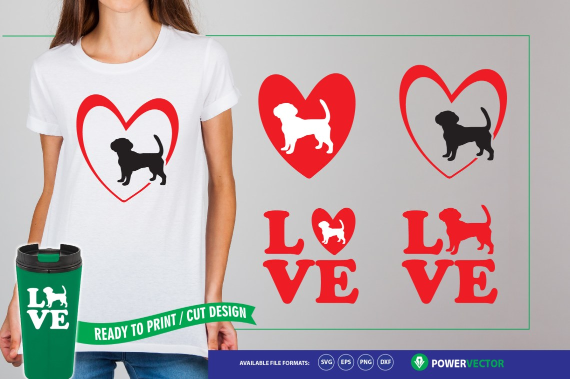 Download Love Dogs - Dog Svg Files for Silhouette & Cricut