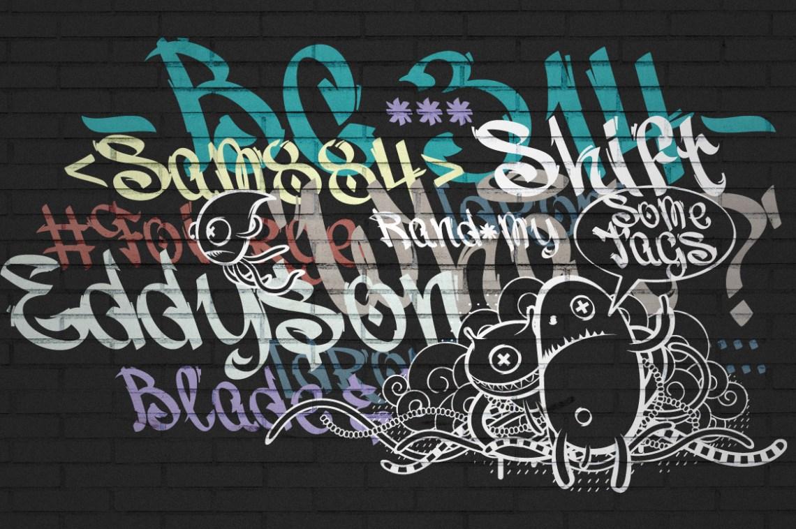 Download Vandal | Graffiti Font (16692) | Logo | Font Bundles