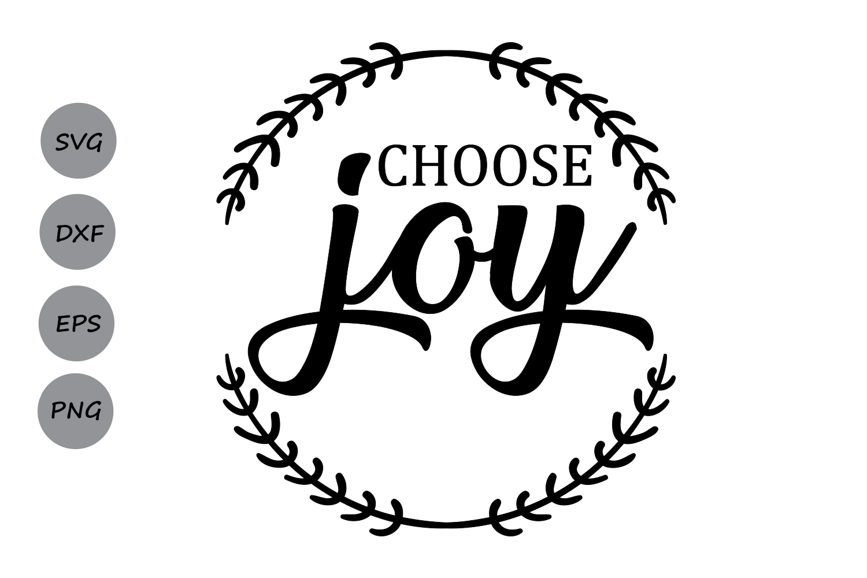 Choose Joy Svg Christmas Svg Choose Happiness Merry