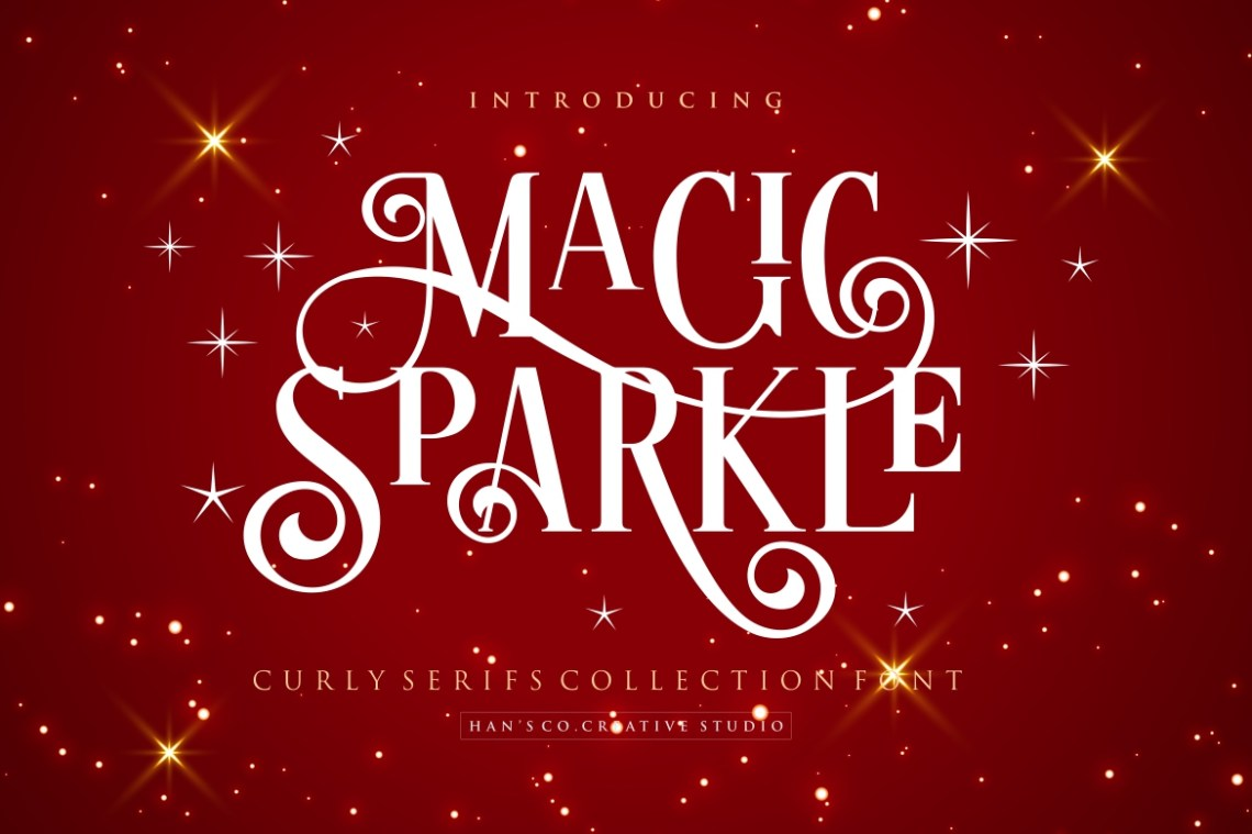 Download Magic Sparkle (383462) | Regular | Font Bundles
