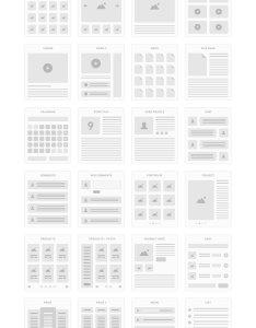 Ui tiles website flowcharts example image also by pixelbu design bundles rh designbundles