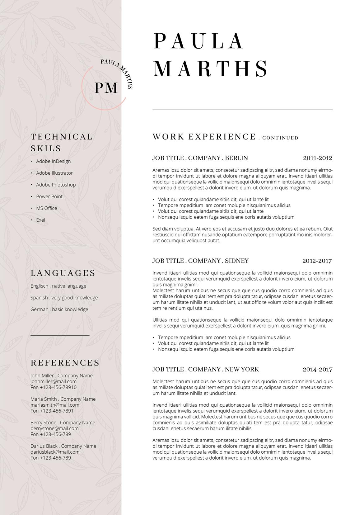 floral designer resume cover letter