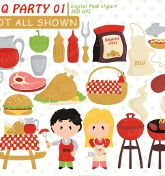 cute bbq party barbeque clipart picnic grill instant example image 1 [ 1500 x 1000 Pixel ]