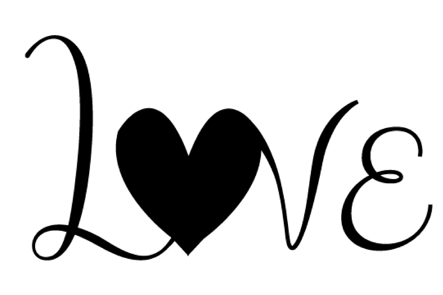 Love With Heart Svg Cut File For Silhouette Cameo Or Cricut