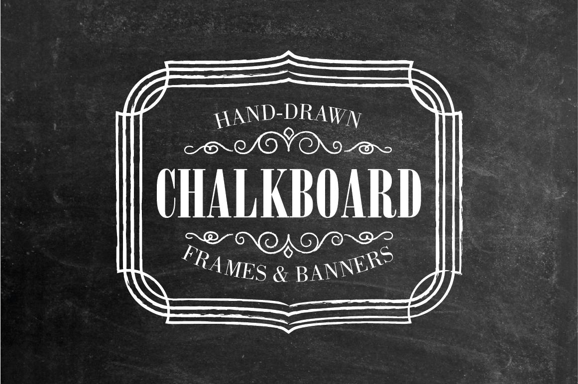 chalkboard labels frames banners