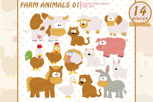 small resolution of farm clip art set barnyard clipart cute farm animals example image 1