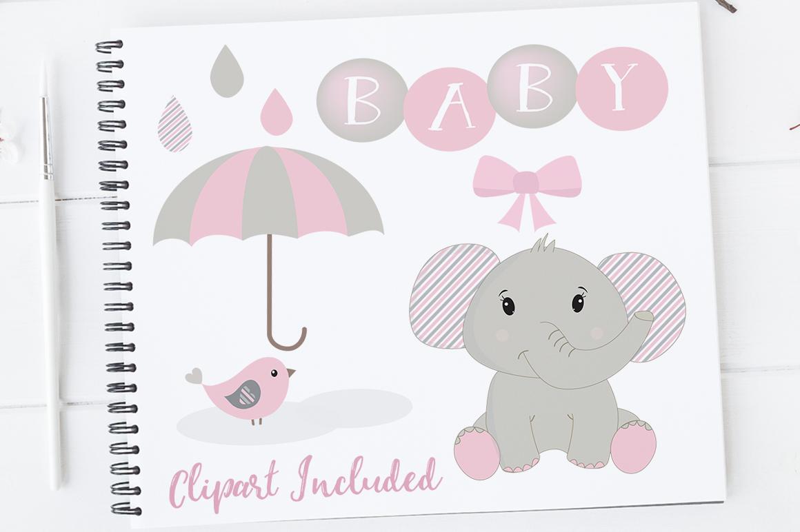 baby girl clipart elephant