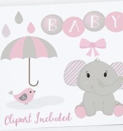 baby girl clipart elephant clipart baby clip art baby shower elephants elephants [ 1160 x 772 Pixel ]