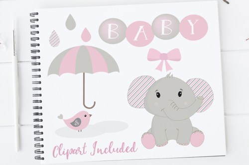 small resolution of baby girl clipart elephant clipart baby clip art baby shower elephants elephants