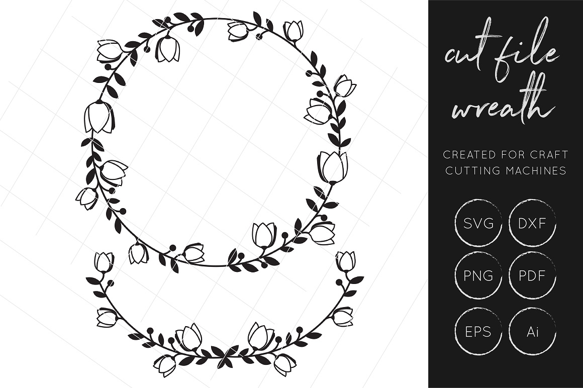 Wreath Svg Cut File