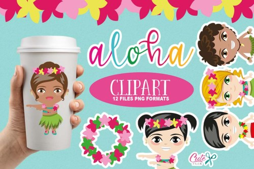 small resolution of tropical party summer clipart luau clipart aloha cliparts hula clipart hawaii