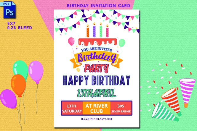 Birthday Invitation Card 346574