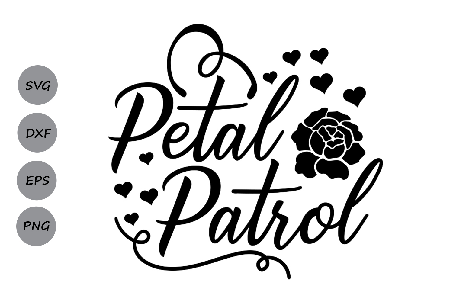 Petal Patrol Svg Wedding Svg Bride Svg Flower Girl Svg
