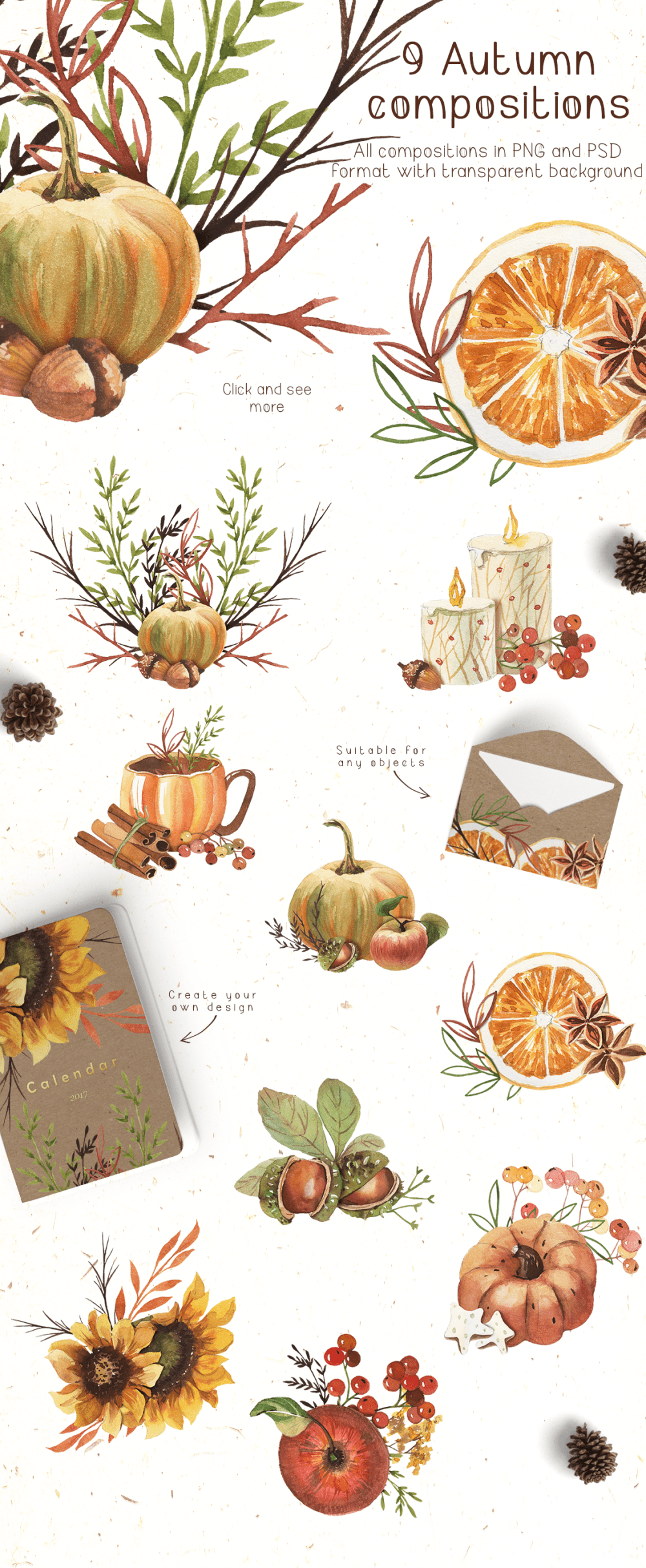 medium resolution of watercolor autumn clipart example image 2