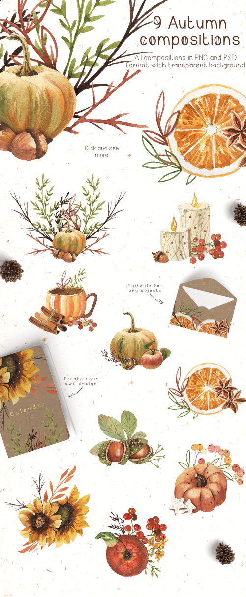 small resolution of watercolor autumn clipart example image 2