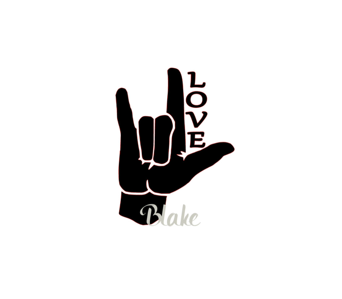 Asl I Love You Sign Love Svg Sign Language Svg Cut File For Tshirt Decal Coffee Cup