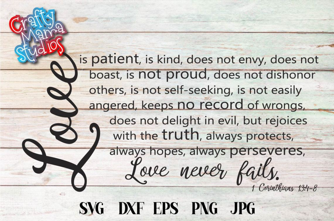 Download Love Is Patient SVG, Sublimation, Always And Forever Love