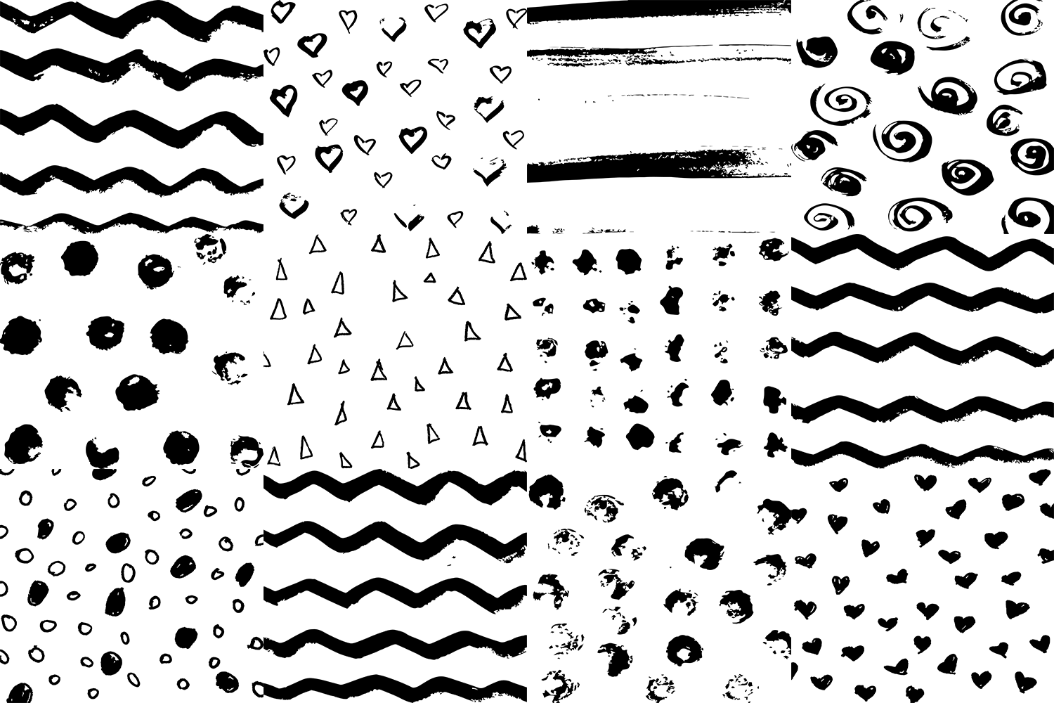 60 Black And White Patterns Bundle