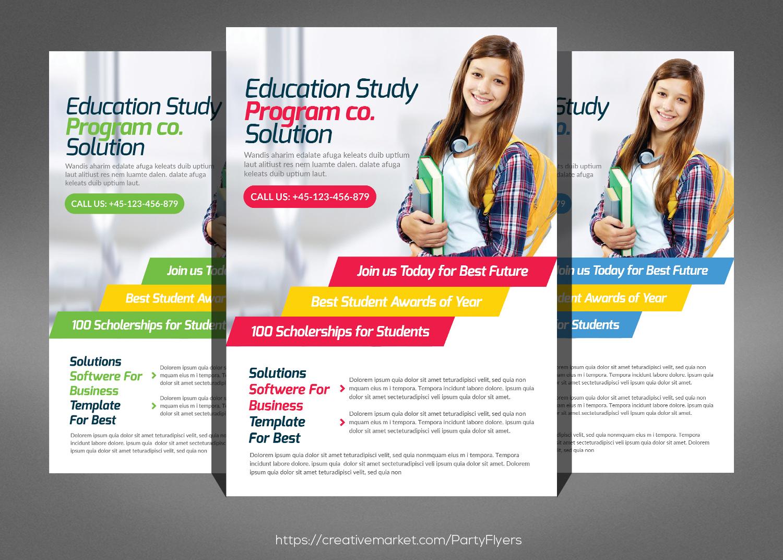 Kids School Flyer Psd