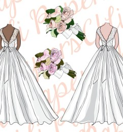 bridesmaid clipart bride clipart wedding gowns diy invites example image 3 [ 1162 x 775 Pixel ]