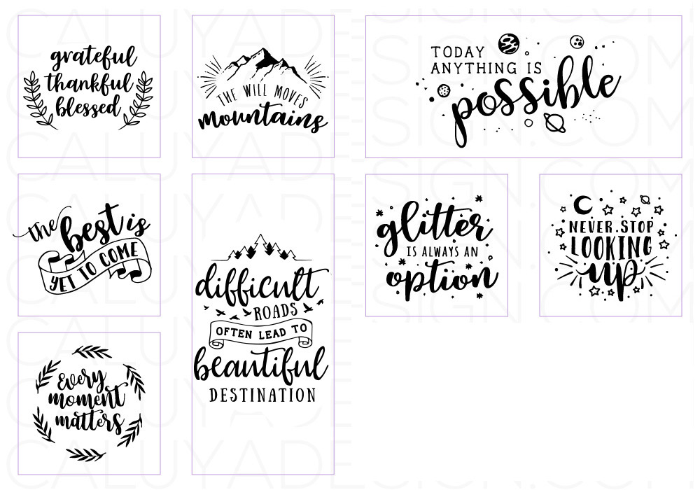 Inspirational Quote SVG Cut File Bundle