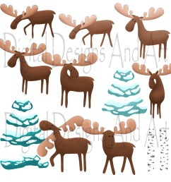 moose clipart example image 4 [ 3000 x 3000 Pixel ]