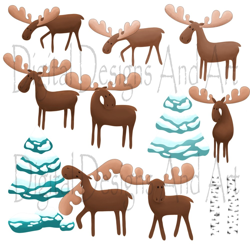 medium resolution of moose clipart example image 4